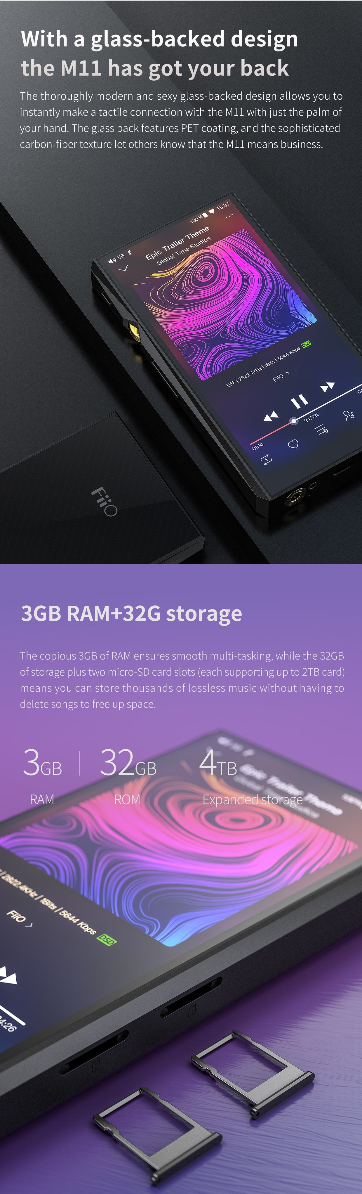 FiiO M11 Portable High Resolution Audio Player