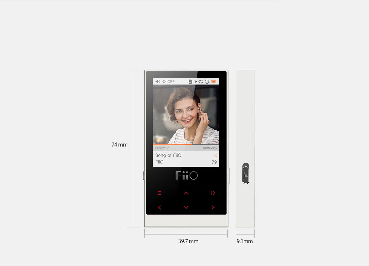 FiiO M3 Digital Portable Music Player with EM3 Earphones Specifications