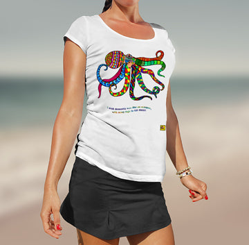 Colourful Octopus O Ladies T-Shirt