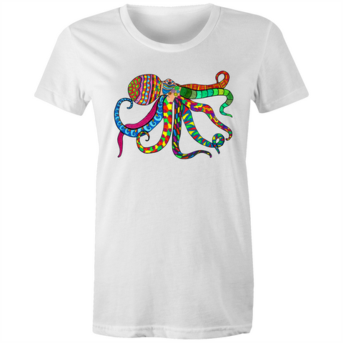 Womens T-shirt - Sportage Surf - Octopus Ory