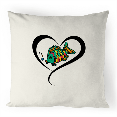 Pillow Cover with Fisheli Love