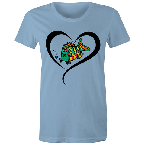 Fisheli Love - Women's Maple Tee