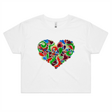 Helen Heart - Womens Crop Tee