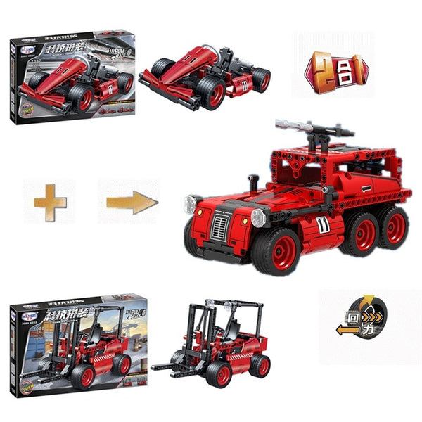 WINNER 7087+7088 The Fire Truck 2 in 1 - Your World of Building Blocks
