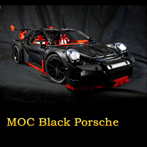 MOC The Black Supercar Racing Car