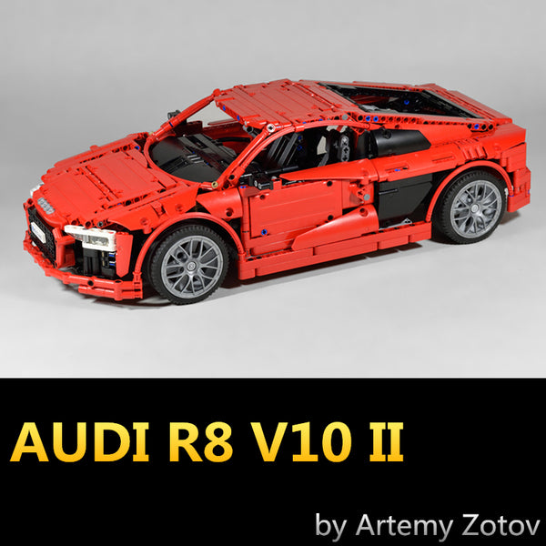 MOC The Red AUDI R8 V10 II - Your World of Building Blocks