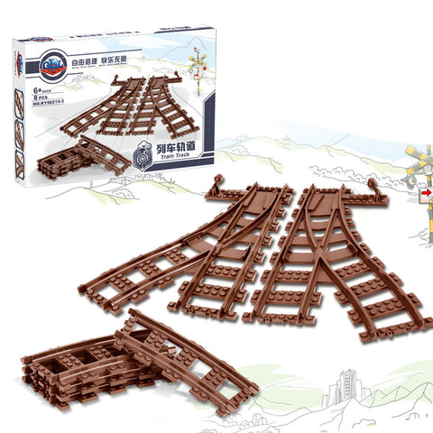 GBL 98215-3&4 Straight & Curved Rail Tracks For Train - Your World of Building Blocks