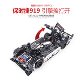CADA C61016 919 Hybrid Sports racing car - Your World of Building Blocks