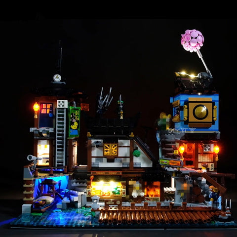 DIY LED Light Kit For Ninja City Docks Lepin 06083 - Your World of Building Blocks