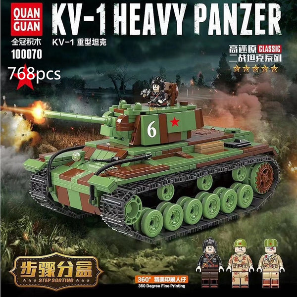 QuanGuan 100070 KV-1 HEAVY PANZER - Your World of Building Blocks