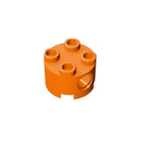 GOBRICKS GDS-1054 Brick, Round 2 x 2 with Pin Holes - Your World of Building Blocks