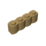 GOBRICKS GDS-1079 Brick, Modified 1 x 4 Log - Your World of Building Blocks