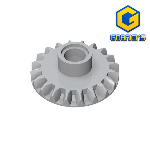 GOBRICKS GDS-1105 Gear 20 Tooth Bevel with Pin Hole - Your World of Building Blocks