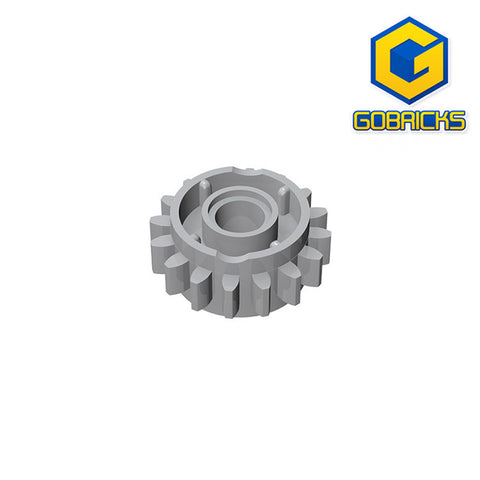 GOBRICKS GDS-1106 Gear 16 Tooth with Clutch on Both Sides - Your World of Building Blocks