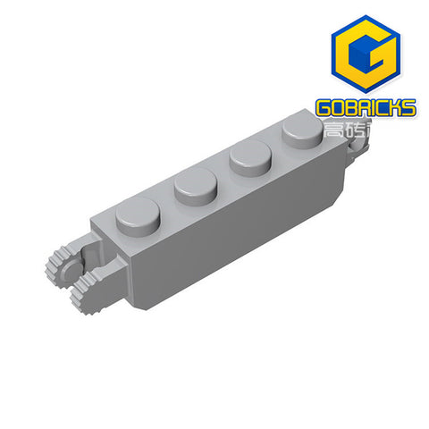 GOBRICKS GDS-1120 Hinge Brick 1 x 4 Locking with 1 Finger Vertical End and 2 Fingers Vertical End - Your World of Building Blocks