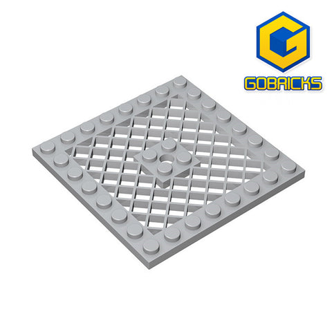 GOBRICKS GDS-1122 Plate, Modified 8 x 8 with Grille