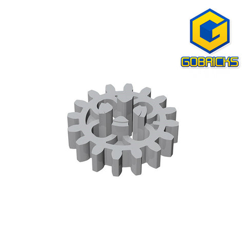 GOBRICKS GDS-1198 Gear 16 Tooth (First Version - 4 Round Holes) - Your World of Building Blocks