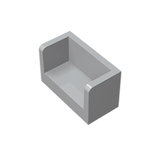 GOBRICKS GDS-1272 Panel 1 x 2 x 1 with Rounded Corners and 2 Sides