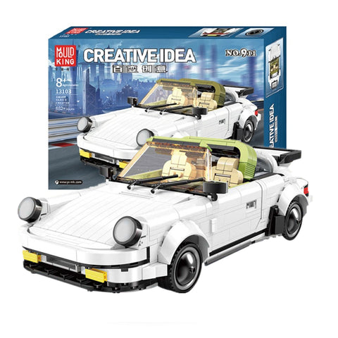 Mould King 13103 The White Classic 911 Sport Car - Your World of Building Blocks