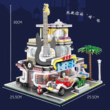 Mould King 16002 Cuitar Shop with LED lights - Your World of Building Blocks