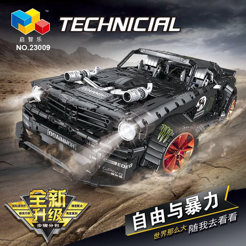 QIZHILE 23009 Ford Mustang Hoonicorn - Your World of Building Blocks