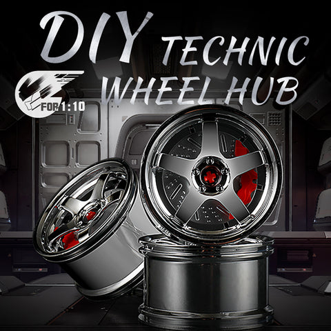 DIY 1:10 Technic Wheel Hub Chrome Wheels