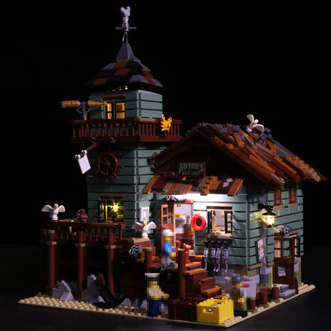 Basic Version LED Light Kit For The Old Fishing Store Lepin 16050 - Your World of Building Blocks