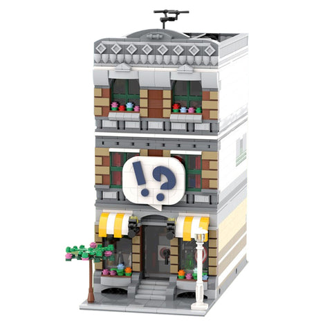 MOC 42895 Modular Comic Shop + Apartment