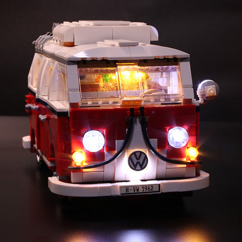 DIY LED Light Up Kit For Volkswagen T1 Camper Van 21001 - Your World of Building Blocks
