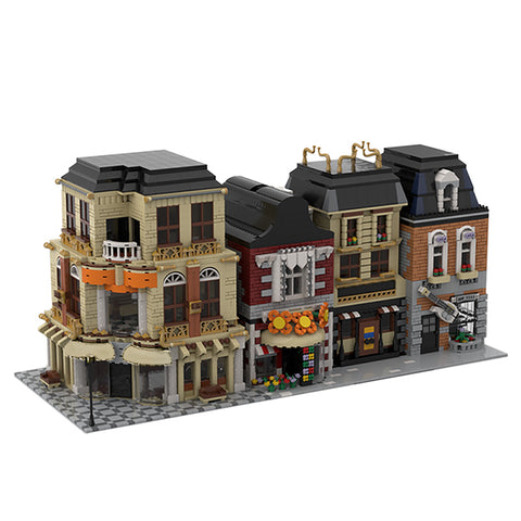 MOC 33843 Modular Street Build from 4 MOCs