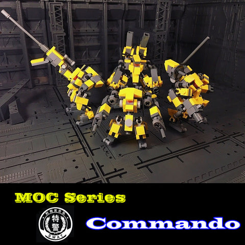 MOC Mecha Series The Mechanical Commando ( 4 Members)  Set Building Blocks Bricks Toys Model - Your World of Building Blocks