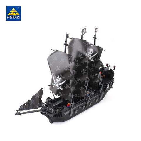 KAZI KY 87010 The Caribbean Pirate Black Pearl Ship - Your World of Building Blocks