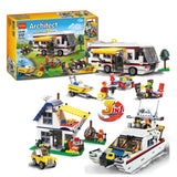 DECOOL 3117 3 IN 1 Vacation Getaways - Your World of Building Blocks
