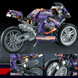 DECOOL 33004 Purple Flame Giant Wheel Motorcyle - Your World of Building Blocks