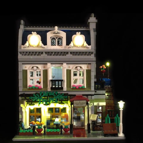 DIY LED Light Up Kit For Parisian Restaurant 15010 - Your World of Building Blocks