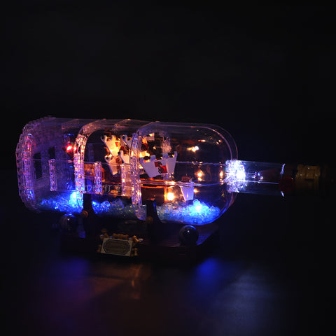 Basic Version LED Light Kit For The Ship in the Bottle 16051 - Your World of Building Blocks