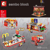 Sembo SD 6901 4 in 1 McDonald with light and USD connecter - Your World of Building Blocks