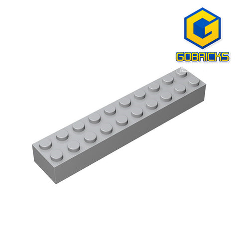 GOBRICKS GDS-545 Brick 2 x 10 - Your World of Building Blocks