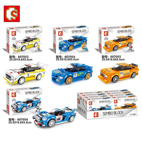SEMBO 607053-607056 Mini racing cars