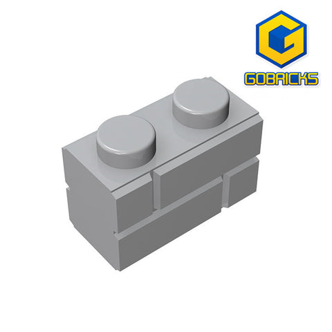 GOBRICKS GDS-631 Brick, Modified 1 x 2 with Masonry Profile (Brick Profile) - Your World of Building Blocks