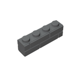 GOBRICKS GDS-632 Modified 1 x 4 with Masonry Profile (Brick Profile) - Your World of Building Blocks