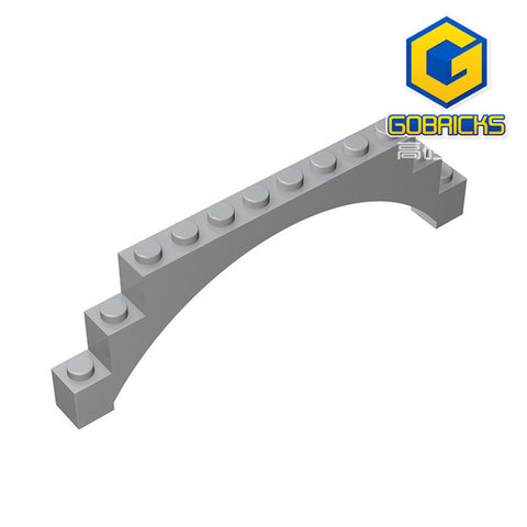 GOBRICKS GDS-676 Brick, Arch 1 x 12 x 3 Raised Arch with 5 Cross Supports
