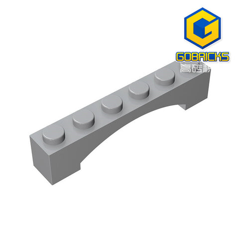 GOBRICKS GDS-679 Brick, Arch 1 x 6 Raised Arch