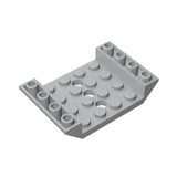 GOBRICKS GDS-684 Slope, Inverted 45 6 x 4 Double with 4 x 4 Cutout and 3 Holes - Your World of Building Blocks