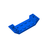 GOBRICKS GDS-687 Slope, Inverted 45 6 x 2 Double with 2 x 4 Cutout