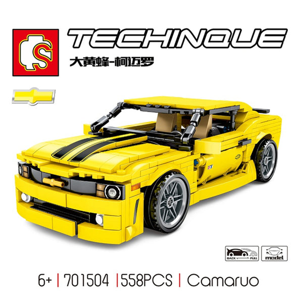 SEMBO 701504 Bumble Bee Pull Back Yellow Racer Car - Your World of Building Blocks