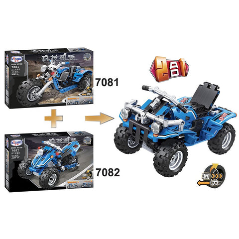 WINNER 7081+7082 The Pullback Motorcycle 2 in 1