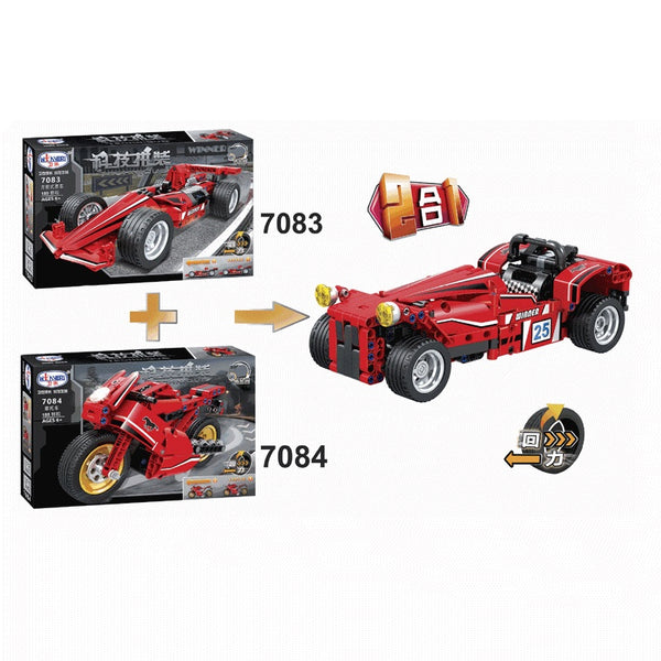 WINNER 7083+7084 The Formula Racing 2 in 1 - Your World of Building Blocks