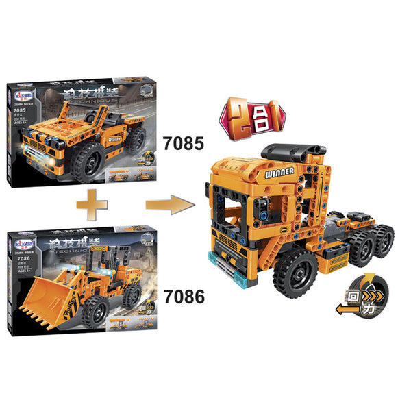 WINNER 7085+7086 The Construction Vehicle 2 in 1