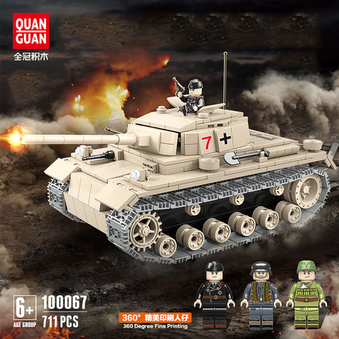 QuanGuan 100067 Germany NO.3 Tank - Your World of Building Blocks